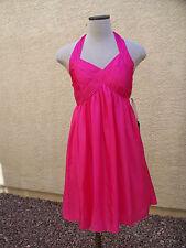 Pirouette Los Angeles Girls CHELSY Pink Silk Habotai Sleeveless Halter Dress  14