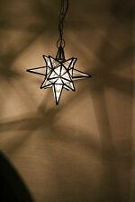 """Moravian 9.5"""" clear glass star different size points"""