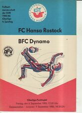 OL 85/86  FC Hansa Rostock - BFC Dynamo Berlin