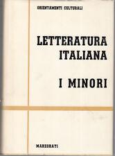 LETTERATURA ITALIANA I MINORI 4 VOLUMI MARZORATI