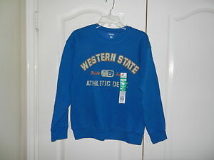 Hanes Boy's Sweatshirt Blue Western State Athletic Dept XL (14-16) NWT New