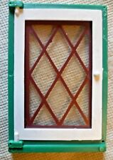 Vintage Dolls House DIY - Caroline's Home Single Lattice Glazed Green Window