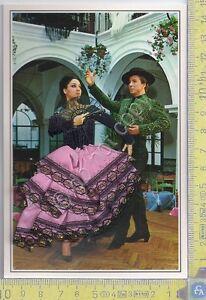 Cartolina Ballerina  Flamenco 3 - ricamata con busta Hotel Praga - Brodee