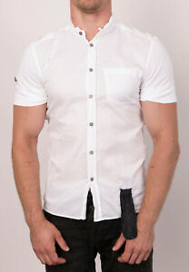 RICHMOND DENIM Men's Shirt Size L Short-Sleeved Button-Up