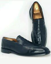 Allen Edmonds Mens 12 B Narrow Glasgow Black Penny Loafer Split Toe Dress Shoes