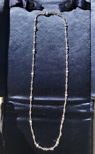 Excellent Rare Retired Genuine Tiffany & Co. Platinum Diamonds Twist Style Chain
