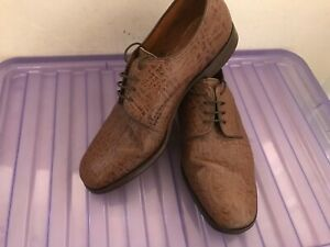 Men's LOAKE  Brown/Tan Grained Leather Derby Shoes UK 10 EE *VGC*