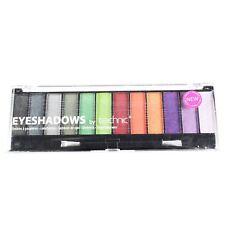 Technic 12 Colour Eye Shadow Palette Black Magic Grey Green Orange Purple Shades