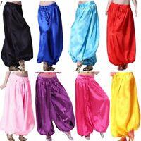 NEW Satin Harem Pant Yoga Pants Belly Dance Costume Dress Pants Trousers Wear