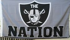 Oakland Raiders 3X5 Flag (The Nation Silver)