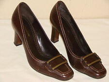 Naturalizer Belfonte Womens Brown Leather Pump Shoe - Size 7M