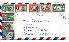 """POSTAL HISTORY GILBERT & ELLICE 1956 PART SET TO 1/- WITH """"CANTON ISLE """" P-MARK"""