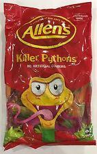 907649 1kg BULK BAG OF LOLLIES - ALLEN'S FAMOUS KILLER PYTHONS! - AUS MADE!!
