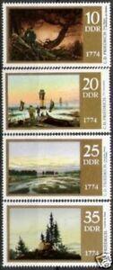 DDR Nr.1958/61 ** Caspar D. Friedrich 1974, postfrisch