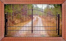 Summer Sale! Driveway Gate 12' Ft Wd, Inc Post Package. Steel Yard Home Security