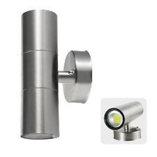 LED Up Down Sensor Wall Light GU10 8w Stainless Steel Bright Lights Warm White