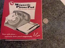 vintage PAT Magnetic Phone Pad paper pencil study office Famous-Barr St Louis MO