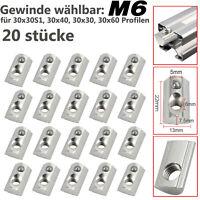 Aluprofil Profil 20× Nutensteine mit Kugel Nut 8 Schrauben M6 für 30x30 30x60 DE
