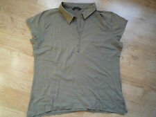 HEMA Woman Earth Green Short Sleeve Shirt Size: L