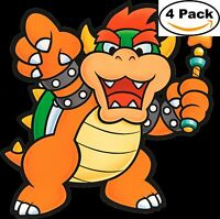 Mario Brothers Paper Mario Luigi Bowser Vinyl Sticker Decal 4X4 11