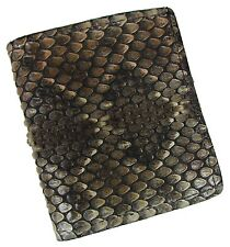 New Men's Leather Genuine Rattlesnake Skin Bifold Wallet with ID Window USA MADE