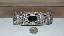 VINTAGE ACCESSOCRAFT NYC WOMENS SILVER TONE BELT BUCKLE