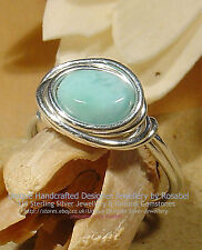 LOVELY LARIMAR 925 SILVER RING - SIZE O - 7  All Sizes