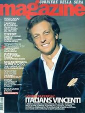 Magazine Corsera.Gabriele Muccino,Carlo Fontana,Candida Hofer,nnn