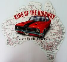KING OF THE HIGHWAY SINCE 1969 HT 350, 490 mm x 470 mm all weather Metal Sign