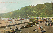 POSTCARD THE WEST BEACH SOUTHEND ON SEA ESSEX