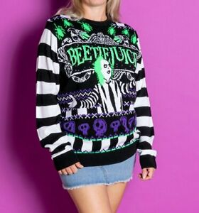 Official Beetlejuice Knitted Jumper