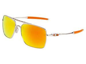 Oakley Deviation Sunglasses OO4061-03 Polished Chrome/Fire Iridium