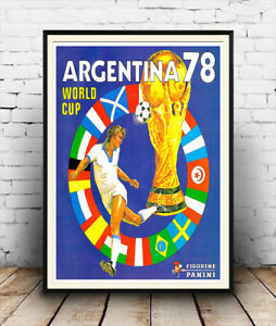 World Cup 1978 - Vintage Panini Advert, Wall art, Poster Reproduction