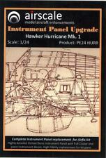 Airscale Decals 1/24 HAWKER HURRICANE Mk.1 INSTRUMENT PANEL UPGRADE PE & Decals