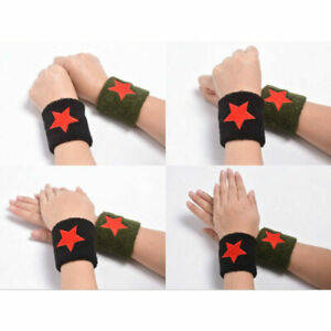 Red Star Sports Cotton Wristband Wrist Support Protection Sweatband Wristband -!