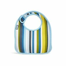 Built 2-Piece Mess Mate Infant Bib Baby Blue, Stripes
