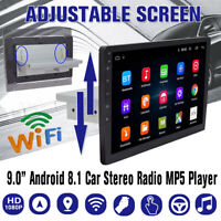"9"" 1 DIN Android 8.1 Ajustable Autoradio bluetooth GPS Navi WIFI MP5 DVD USB AM"