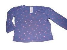 C & A tolles Langarm Shirt Gr. 62 blau mit rosa Sternen !!