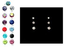 Small Sterling Silver 925 Crystal CZ Tiny Stud Earrings Tiny 1.5mm 2mm 2.5mm 3mm