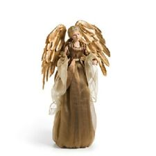 """Angel Tree Topper Or Standing Gold Fabric 18"""" Silvestri Retired"""