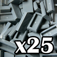 NEW LEGO - TILES - Dark Bluish Gray 1x2 - x25 - 1 x 2 grey  smooth flat tile