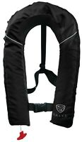 SALVS Automatic / Manual Inflatable Life Jacket for Adults   Black Life Vest