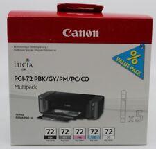 Canon Tintenpatronen für Pixma Pro 10 Multipak PGI-72 PBK/GY/PM/PC/CO