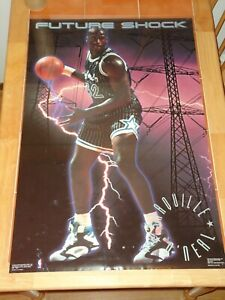 "Shaq Shaquille O'Neal  ""Future Shock"" Poster 1992 Orlalndo Magic New"