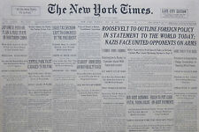 5-1933 WWII May 16 JAPANESE PUH ON PLAN A FREE STATE IN CHINA. REICH CURB DEBT