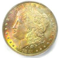 1881-P (1881) Morgan Silver Dollar $1 with Rainbow Tone - ICG MS65 - $585 Value!