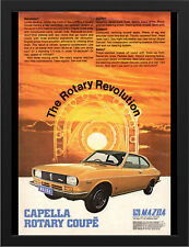 "1971 MAZDA CAPELLA RE ROTARY COUPE AD A3 FRAMED PHOTOGRAPHIC PRINT 15.7""x11.8"""