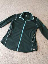 Annika Cutter&Buck Golf Black/Light Blue Active Full-Zip Jacket Zip Size Small
