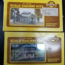 Ratio N scale 2 Railway kits. Midland signal box and Engine Shed