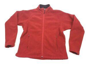 Marmot Size M Womens Red Full Zip Side Pockets Fleece Jacket